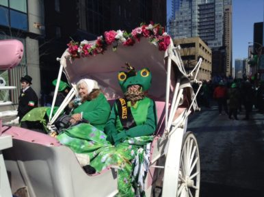 The Little Angels Charity Society's carriage in the Irish Parade 2017, Montreal