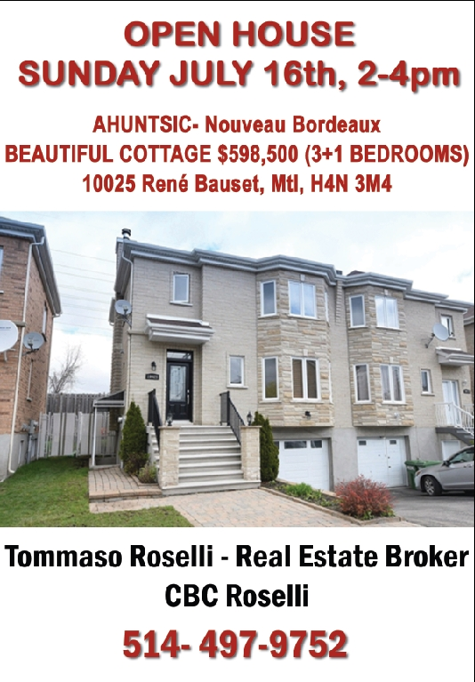 Open House in Ahuntsic with CBC Roselli