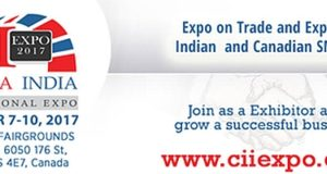CII Expo 2017 - Canada India International Expo on Trade and Export from Sept 7-10, 2017