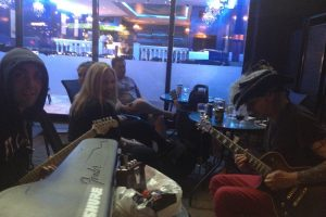 The Little Angels Jamming with Mars in front of Restaurant Blanche Neige & Fire on Queen Mary near Decarie