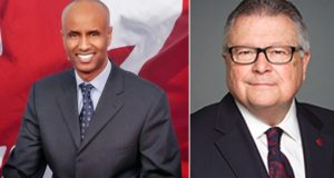 Immigration, Refugees and Citizenship Minister Ahmed Hussen and Public Safety Minister Ralph Goodale