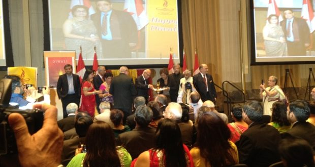 Lighting Diyas at the Diwali 2017 at the Parliament Hill on October 18, 2017