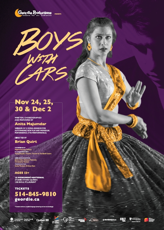 Boys With Cars - A Play by Anita Majumdar presented by Geordie Productions in Montreal
