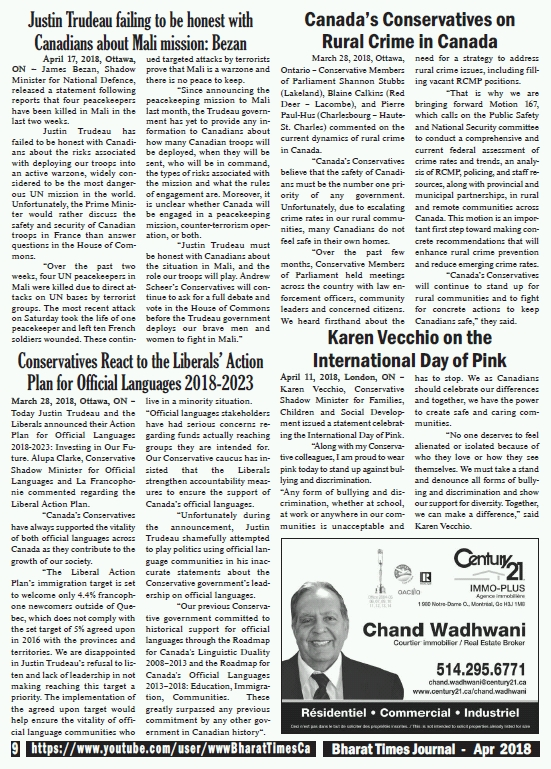 Bharat Times April 2018 - pg 9