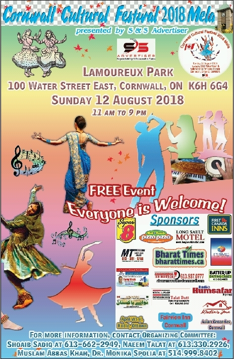 Cornwall Cultural Festival 2018 Mela on August 12, 2018