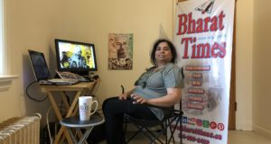 Happy Gandhi Jayanti by Dr. Monika Spolia, editor and publisher of Bharat Times (Montreal & Cornwall)