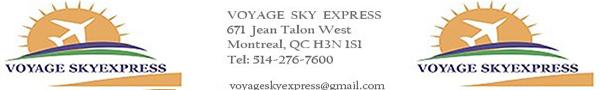 Voyage Sky Express - 514-276-7600