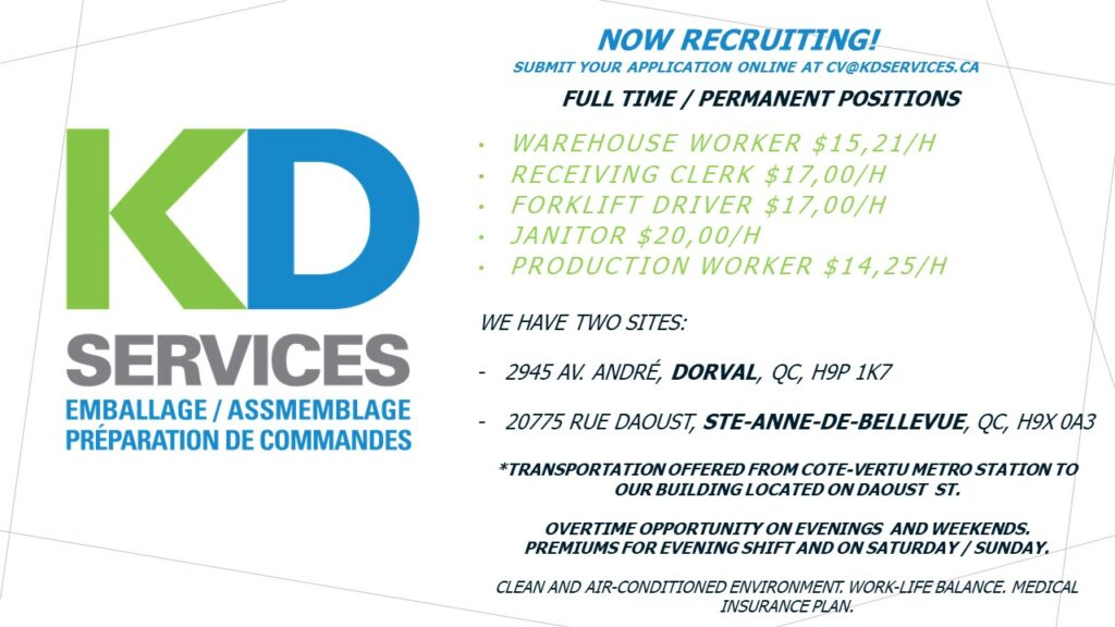 KD Services hiring now